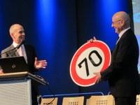 Walfried Weber, Präsident der Lebenshilfe Kaiserslautern e.V.,  feiert 70. Geburtstag