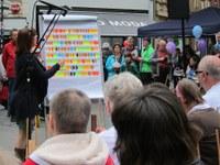 10. Mai 2014: Musik-Gruppe Farbtöne der Lebenshilfe Westpfalz e.V. beim Europa-Aktionstag in Kaiserslautern