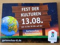 13. August 2017: Gartenschau Kaiserslautern - Fest der Kulturen - Vorschau