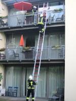 21. Juli 2017: Feuerwehrübung in der Wohnstätte in Weilerbach