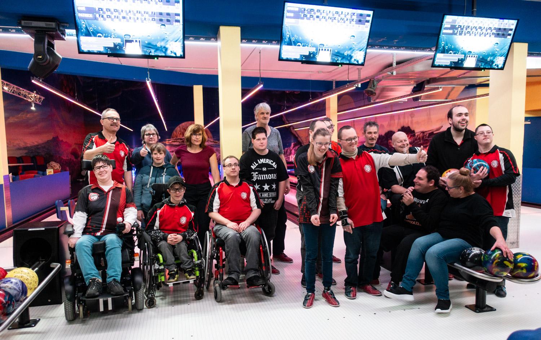 15. Dezember 2019: Lebenshilfe-Team beim Weihnachts-Bowling