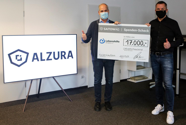 26. Januar 2021: Große Spende der Saitow AG für die Lebenshilfe Westpfalz