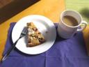 mit Kaffee und Kuchen verwöhnt