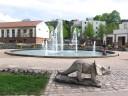 und Springbrunnen