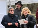 Das Ehepaar Sheyda und Ruhi Rafat mit Künstler Günter Sprengart