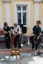Banjo und Schlagzeug
